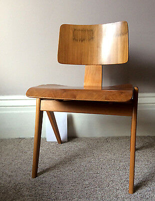 VINTAGE Hillestak CHAIR Robin Day Mid Century Beech Plywood Hille UK Eames
