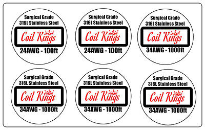 24/34 Pack 4200FT 316L STAINLESS STEEL WIRE HIGH QUALITY SURGICAL SS WIRE