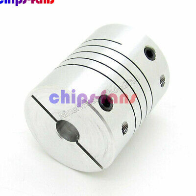 New 12x12mm Coupler 12mm to 12mm Flexible Couplings OD 25mm / Length 30mm