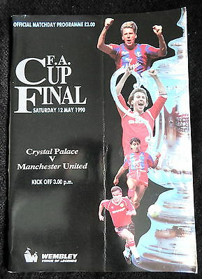 Crystal Palace v Manchester United     fa cup final  12-5-1990