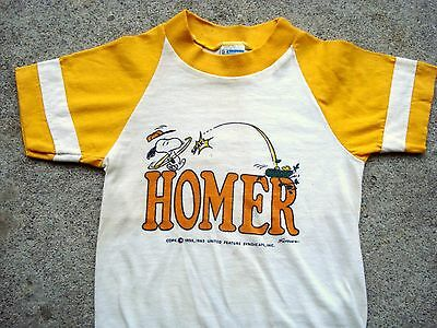 Vintage 60's 70's Champion Products SNOOPY HOMER T-shirt Kids T-shirt