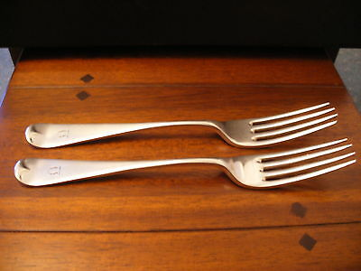 Elkington Plate Silver Plated Forks With Engraved Monogram