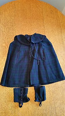 American Girl Samantha's Plaid Cape & Gaiters