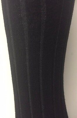 MP Denmark womens soft comfy elegant pattern opaque cotton tights black Large