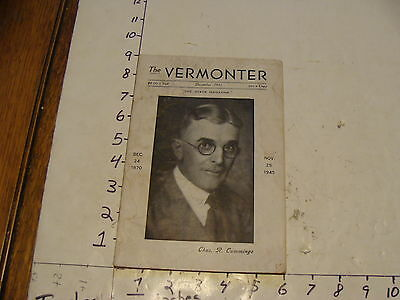 Vintage Travel Paper--THE VERMONTER--DECEMBER 1945 stained