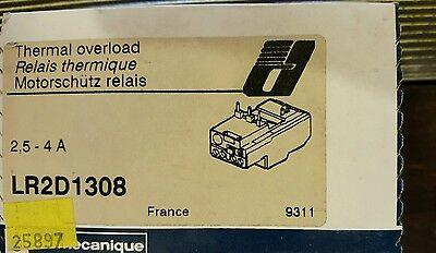 Telemecanique LR2-D1308 Thermal Overload Relay 2.5-4.0A NEW IN SEALED  BOX