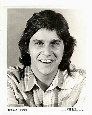 Vintage 1980s AGENCY Headshot 8x10 TIM MATHESON Portrait!