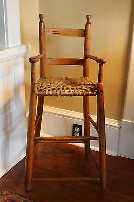 18th c. or Early 19th c.American Maple and Hickory Child's Highchair