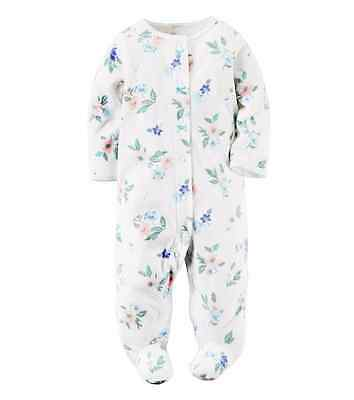 Carters Baby GIRL Floral Footie, 9 mos NEW