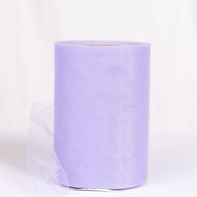 "Lavender  6""x100yd Soft Tulle Roll Spool For Craft Wedding Party Decorations"
