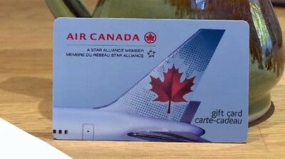 air canada gift card $425 value.Brand new never used the card
