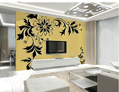 * Modern Simple Style Background Murals 3D Pattern Black Living Room WallPaper