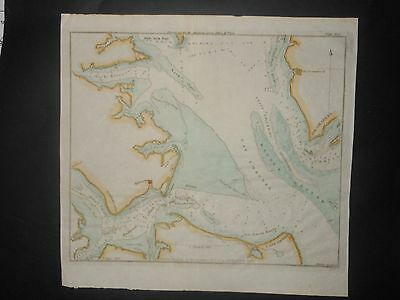 Chesapeake Bay Entrance Cape Henry Charles Hampton Virginia 1827 Map Hand Color