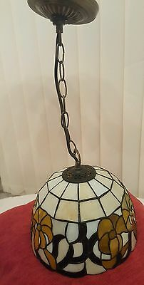 A Pair of Lovely Quality Tiffany Style Pendant Ceiling Lights
