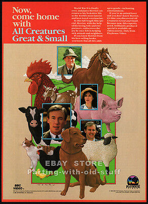 ALL CREATURES GREAT AND SMALL__Original 1986 video Print AD / TV promo__BBC__TV