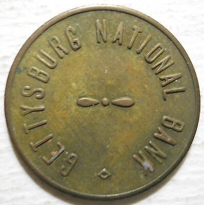 Gettysburg National Bank (Pennsylvania) parking token - PA3405A