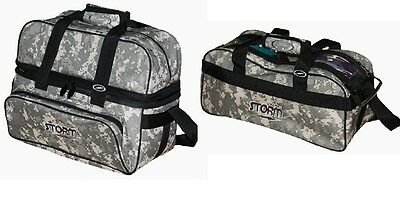 TWO Storm 2 Ball Tote Bowling Bags 1 With Shoe Pocket & 1 Without Color Camo