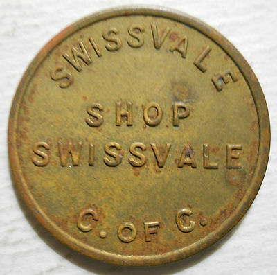 Swissvale Chamber of Commerce (Pennsylvania) parking token - PA3880A