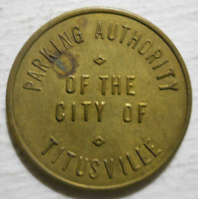 City of Titusville (Pennsylvania) parking token - PA3910A