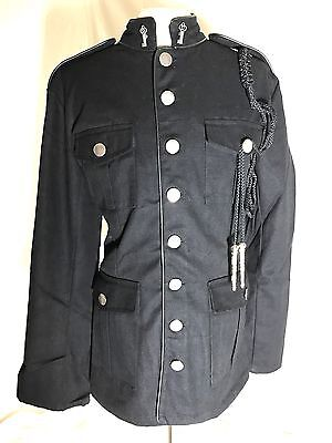 Steampunk Military Style Jacket With Black Epaulets Chest Size 48 Inches