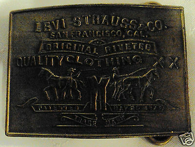 Vintage Levi Strauss & Co Rare Stones Tiffany Broadway  New York Belt Buckle