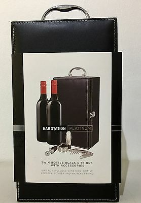 4 x Bar Station 2 Bottle Wine Carriers