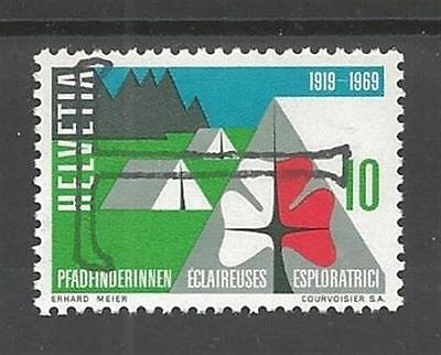 1969 Switzerland Scouts Girl Guides 'T' Postage Due