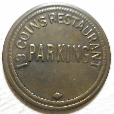 13 Coins Restaurant (Seattle, Washington) parking token - WA3780AG