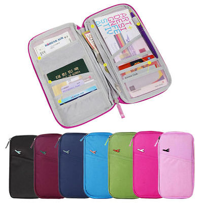 NEW Travel Wallet Passport Holder Credit Card Case Document Ticket Organizer Bag