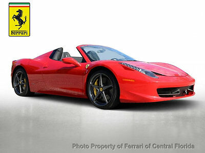 2015 Ferrari 458 2dr Convertible 2015 458 Spider - Excellent condition with Carbon + Racing Seats