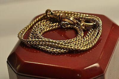 Antique gold filled pocket watch chain /fobr 15.5 inch