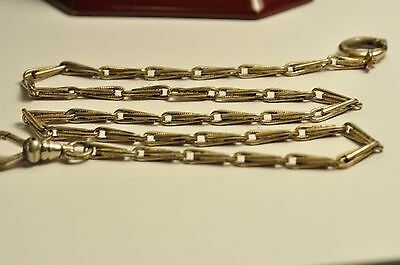 Antique gold filled pocket watch chain /fob 14inch