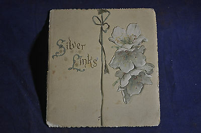Ca 1890 Silver Links, Poetry Card
