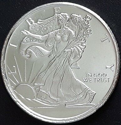 1/10 oz Walking Liberty Pure Silver Round- uncirculated coin .999