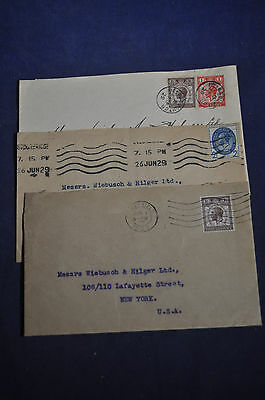 205-208 Great Britain Postal Union Congress on Three Covers