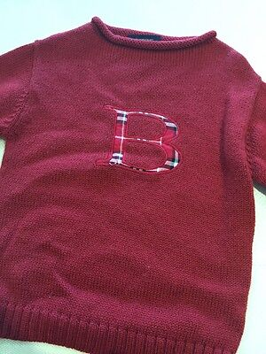 Unisex Burberry Sweater B Red, Excellent Condition **Free Shipping** Size 6