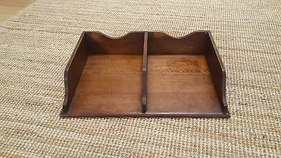 Antique Vintage Industrial Paper Tray Desk Tidy Document Tray