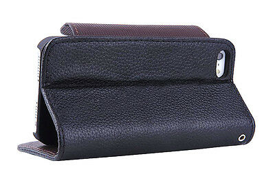 9 Pcs of Leather Finish Case With Card Slot for iPhone 5/5S