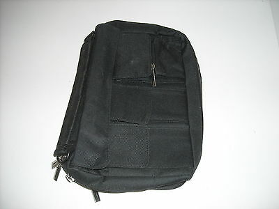 Canvas Texture Bible Cover with Cross Pull Zippers Black
