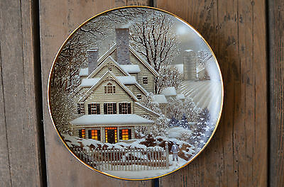 """""""Winter Home"""" Heirloom Collector's Plate Franklin Mint Paul MacWilliams 1992"""