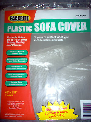 Plastic Sofa Couch Cover For Moving And Storage