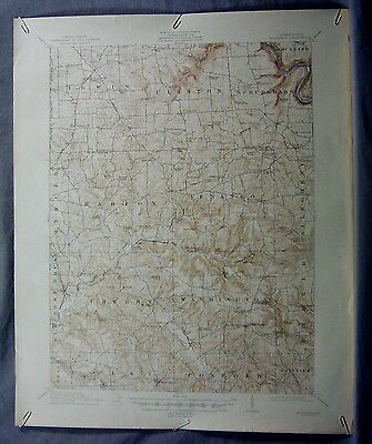 "1912 ANTIQUE Hilliards, PA 15' USGS Topographic Map 17"" x 21"" Allegheny River"