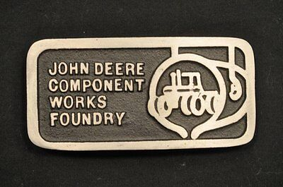 John Deere Component Works Foundry Belt Buckle Tractor Must See