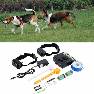 New Underground Electric Dog Fence Fencing System 2 Shock Collar Waterproof XC