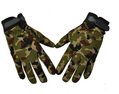 Pop Men Military Tactical Airsoft Shooting Hunting Full Finger Gloves 3 Size