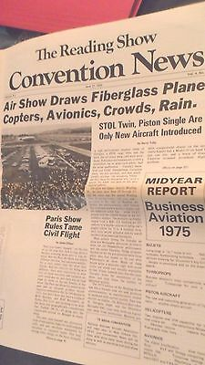 1975 Reading Airshow and Convention Newspaper