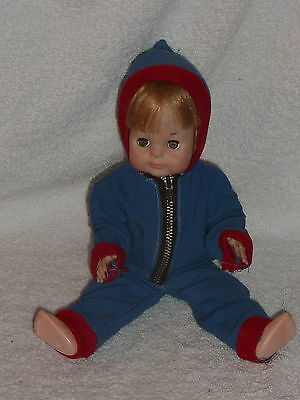"Vintage 1960-1970s Vogue Doll 11"" Littlest Angel in Cute Hooded Snowsuit"