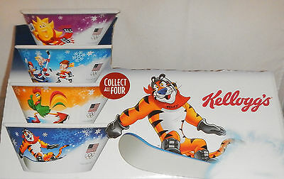 KELLOGG'S CEREAL BOWLS 2014 OLYMPICS- set of 4