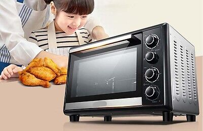 38L Home Commercial Silver Multi-function Baking Tool Benchtop Electric Oven &