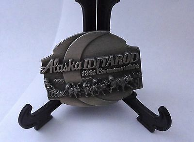 1991 Commemorative Alaska Iditarod Pewter Belt Buckle by Siskiyou Buckle Co. Inc